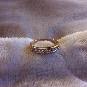 Jewelry - 18K Rose Gold Plated Ring with Crystals BRAND NEW